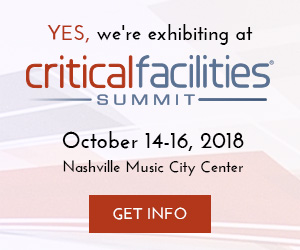 Yes, We're exhibiting at Critical Facilities Summit